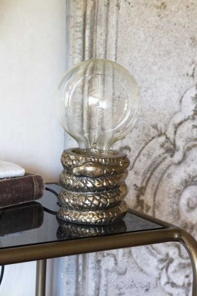 Lifestyle image of the Snake Table Lamp