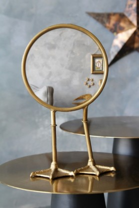 Bronze Bird Feet TableVanity Mirror