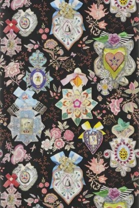 Christian Lacroix Incroyables et Merveilleuses Collection - Cocarde Wallpaper - 6 Colours Available