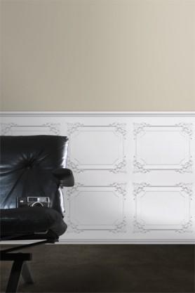 Koziel White Classical Louis XV Panelling Wallpaper