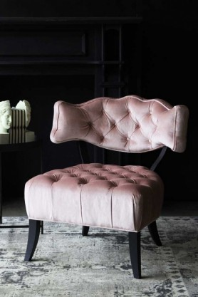 Cloud Velvet Chair - Blush Pink