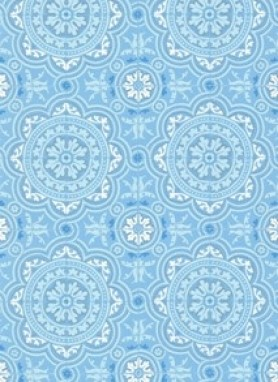 Image of Cole & Son The Albemarle Collection - Piccadilly Wallpaper - Soft Blue
