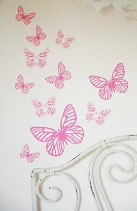 Collection of Butterfly Wall Stickers - Various Colours
