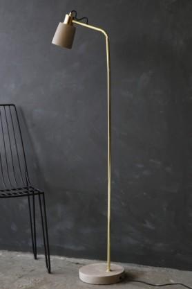 Concrete & Polished Brass Floor Lamp