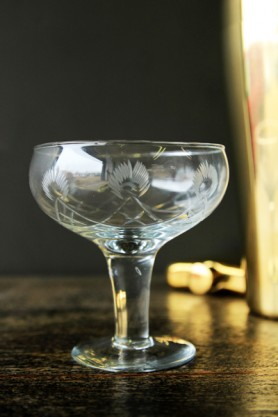 Cut Glass Champagne Saucer / Cocktail Glass
