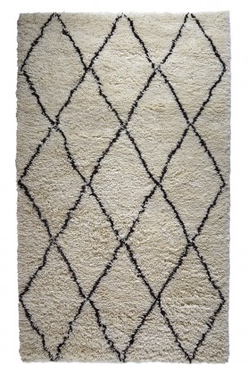 Benni 01 Deep Pile 100% Wool African Rug - 2 Sizes Available
