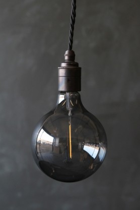 E27 LED Atelier Smoke Glass Bulb - Large Globe