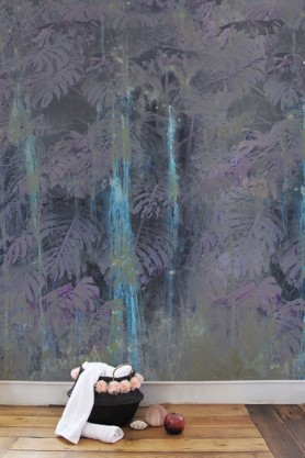 Elli Popp Dusk - The Sound of Water Wallpaper - Aubergine Purple
