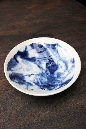 Indigo Storm Collection by Faye Toogood for 1882Ltd - Medium Serving Bowl