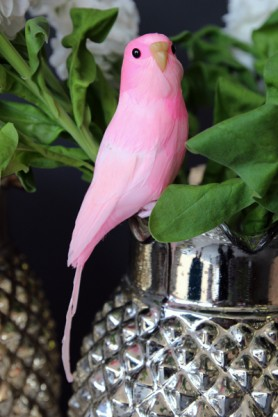 A Fabulous Artificial Bird - Pink Budgie