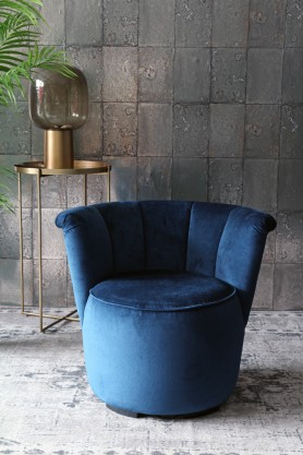 Gallery Velvet Cocktail Chair - Midnight Blue