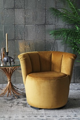 Gallery Velvet Cocktail Chair - Golden Glow