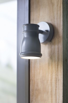 Indoor/Outdoor Charcoal Gate Light