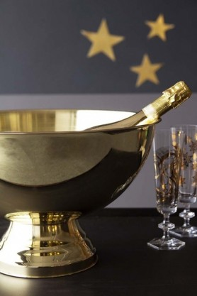 Giant Lavish Gold Champagne Ice Bucket
