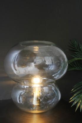 Brass & Glass Bubble Desk Lamp