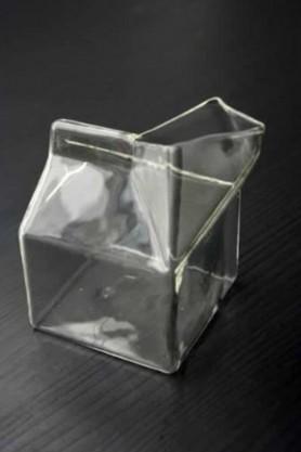 Glass Milk Carton Milk Jug - Half Pint