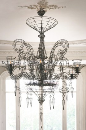 Angelus Shadow Black Wire Chandelier