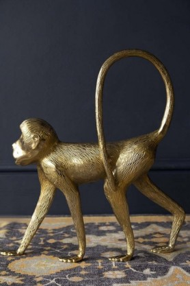 Gold Monkey Decorative Ornament