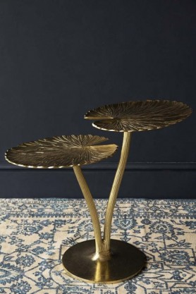 Gold Water Lily Pad Side Table