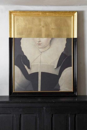 Lifestyle image of the Large Framed Oil Painting Of An Incognito Baroness