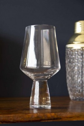 Handmade Clear Conical Stem Wine Glass