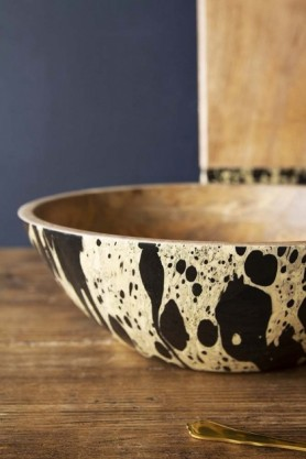 Ink Mango Wood Bowl