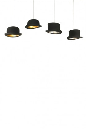 Jeeves Wooster Bowler Hat Pendant Light