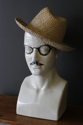 Ceramic Modern Phrenology Head - Tash and Specs - Large