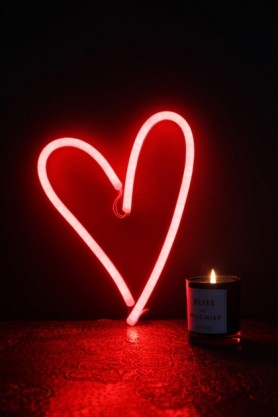 LED Neon Light - Heart - Red