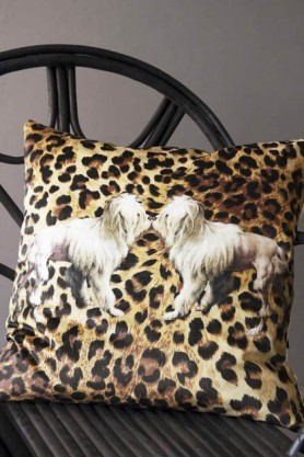 Leopard Print TigerDog Velvet Cushion