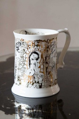 Right angled image of the Peter's Naked Ladies Tankard