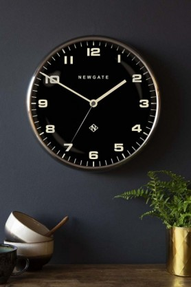Newgate Contemporary Burnished Steel Silent Wall Clock