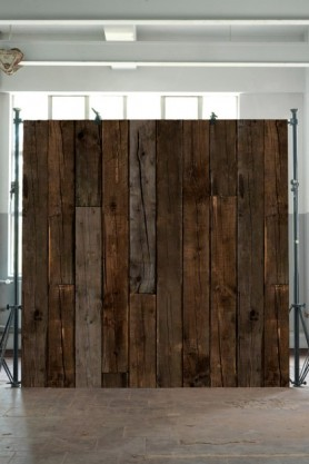 lifestyle image of NLXL PHE-10 Scrapwood Wallpaper by Piet Hein Eek - Dark Brown Sleepers in a cube