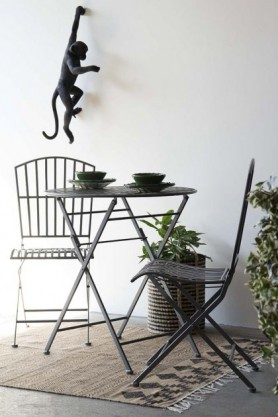 Parisian Style Outdoor Foldable Metal Dining Set