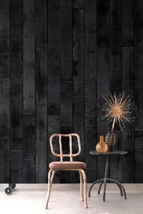 NLXL PHM-35 Burnt Wood Wallpaper By Piet Hein Eek