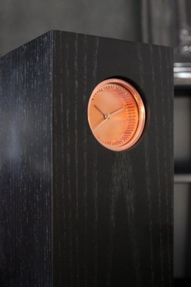 Leff Amsterdam Tube Wood Clock By Piet Hein Eek - Copper/Black Ash