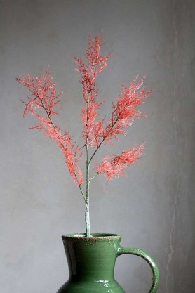 Image of one Pink Faux Wild Foliage Stem in a vase
