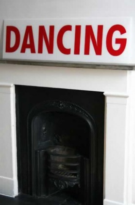 Retro Perspex Sign - Dancing lifestyle image