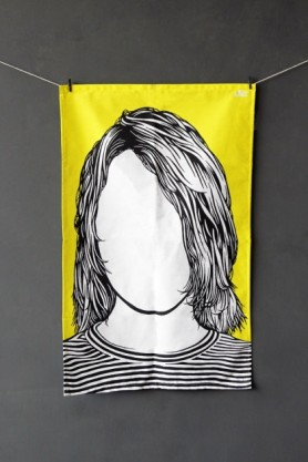 Rock Icon Tea Towel - Kurt Cobain