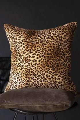 Rockett St George Leopard Love Velvet Cushion