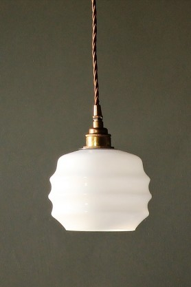 Round Deco Opal Glass Pendant Ceiling Light