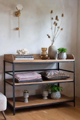 Lifestyle image of the Antique French-Style Shelf Unit / Console Table
