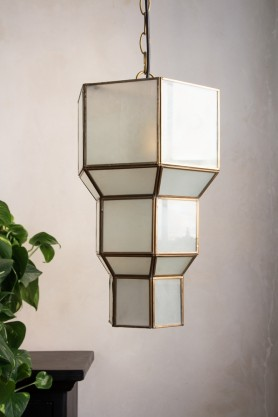 Lifestyle image of the Tiered Art Deco Pendant Light