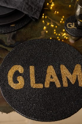 Image of the Glam Glamorous Round Beaded Placemat