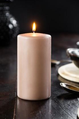 Image of the Beautiful Dusky Pink Pillar Candle