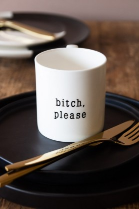 Lifestyle Image of the Bitch Please Mug