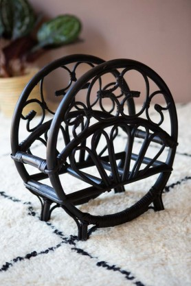 Lifestyle image of the Black Cane Magazine Rack