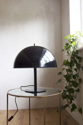 Lifestyle image of the Black Mushroom Dome Modern Table Lamp