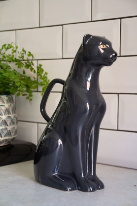 Lifestyle image of the Ceramic Panther Watering Can / Display Ornament