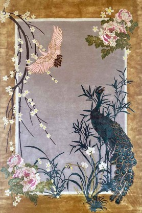 Image of the Wendy Morrison Chinese Garden of Virtue Hand Knotted Wool & Silk Rug